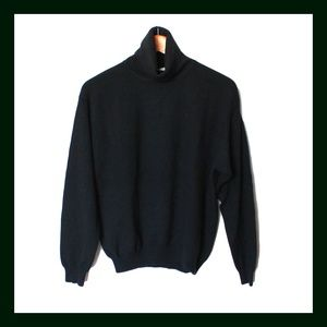 Talbots Black Turtleneck M 100% Cashmere Sweater